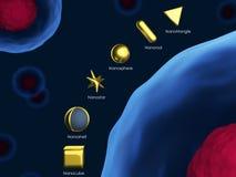 Gouden Nanoparticles Royalty-vrije Stock Fotografie