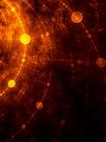 Gouden Netwerk - fractal illustratie Royalty-vrije Stock Fotografie