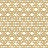 Gouden netwerk naadloos patroon Subtiele vector gouden en witte luxeachtergrond royalty-vrije illustratie