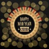 Gouden Nieuwjaar 2018 royalty-vrije illustratie