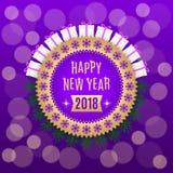 Gouden Nieuwjaar 2018 Stock Foto
