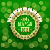 Gouden Nieuwjaar 2018 vector illustratie