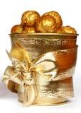 Gouden noten Stock Fotografie