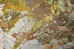 Gouden olieverfschilderijachtergrond Royalty-vrije Stock Afbeeldingen