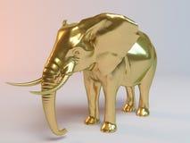 Gouden olifant Royalty-vrije Stock Foto's