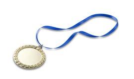 Gouden olympics medaille 2 met het knippen van weg Stock Foto