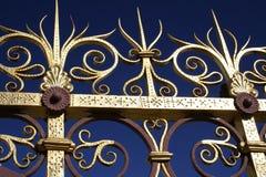 Gouden omheining royalty-vrije stock afbeelding