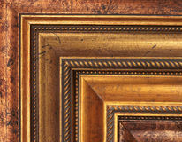 Gouden omlijstingsteekproeven Stock Afbeeldingen