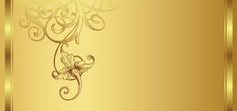 Gouden ontwerpachtergrond 1/2 Stock Afbeeldingen