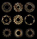 Gouden ontwerpelementen 1 Royalty-vrije Stock Afbeelding