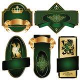 Gouden-ontworpen etiketten Royalty-vrije Stock Foto
