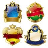 Gouden-ontworpen etiketten Royalty-vrije Stock Afbeeldingen