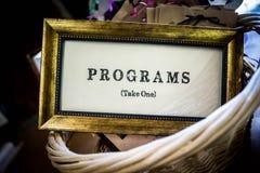 Gouden ontworpen retro Programmateken royalty-vrije stock afbeeldingen