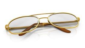 Gouden oogglazen vector illustratie
