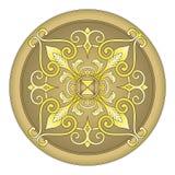 Gouden oostelijke ornamentvector Royalty-vrije Stock Fotografie
