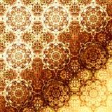 Gouden oosters patroon, vakantie volks traditionele elementen Royalty-vrije Stock Afbeelding