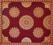 Gouden op rood Thais het schilderen behang stock illustratie