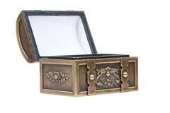 Gouden open borst stock foto's