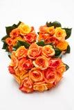 Gouden Oranje Huwelijk Bruids Rose Bouquet royalty-vrije stock afbeeldingen