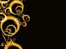 Gouden organische vormen Stock Afbeeldingen