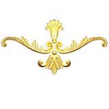 Gouden ornament royalty-vrije illustratie