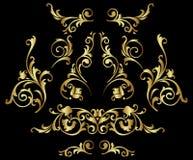 Gouden ornament Stock Afbeeldingen