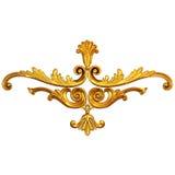 Gouden ornament Stock Foto