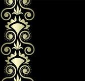 Gouden ornament op zwarte achtergrond Royalty-vrije Stock Afbeelding