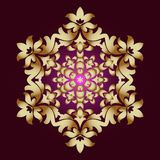 Gouden ornamentelement in de vorm van een mandala, vectorillustratie op donkere achtergrond vector illustratie