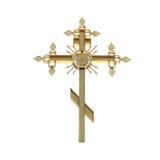 Gouden orthodox kruis Royalty-vrije Stock Fotografie