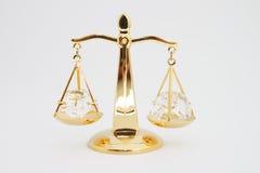Gouden oude schaal Royalty-vrije Stock Foto