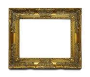 Gouden overladen frame Stock Afbeeldingen