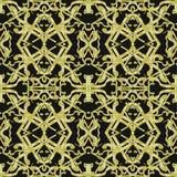 Gouden Overladen Ingewikkeld Naadloos Patroon Stock Afbeelding