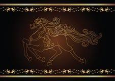 Gouden paard Royalty-vrije Stock Afbeeldingen