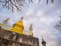 Gouden pagode stock afbeeldingen