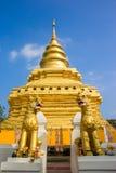 Gouden Pagode bij Wat Phra That Sri Chom-Leren riem Royalty-vrije Stock Foto
