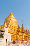 Gouden Pagode Shwezigon in Myanmar Stock Foto
