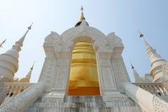 Gouden pagode in tempel van wat de suan dok, chiang MAI Royalty-vrije Stock Fotografie