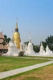 Gouden pagode in tempel van wat de suan dok, chiang MAI Royalty-vrije Stock Afbeelding