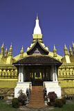 Gouden pagode in Wat pha-dat Luang in Vientian.This boeddhisme is Royalty-vrije Stock Foto