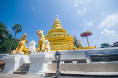 Gouden Pagode, Wat Phra That Sri Jom-Leren riem (de Koninklijke Tempel) Royalty-vrije Stock Afbeeldingen