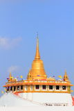 Gouden pagode, Wat Saket in Bangkok Thailand Royalty-vrije Stock Foto's