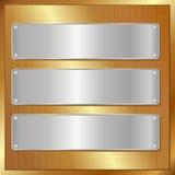 Gouden paneel Stock Fotografie
