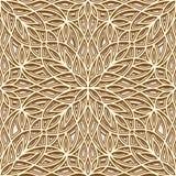 Gouden patroon Royalty-vrije Stock Afbeelding