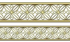 Gouden patroon Royalty-vrije Stock Foto