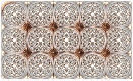 Gouden patroon op de witte achtergrond Royalty-vrije Stock Afbeeldingen
