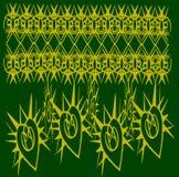 Gouden patroon op groene achtergrond Royalty-vrije Stock Afbeelding