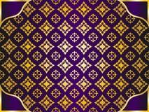 Gouden patroonachtergrond Royalty-vrije Stock Foto