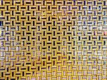 Gouden patroonachtergrond De vierkante vorm van goud en verzilvert insi Royalty-vrije Stock Fotografie