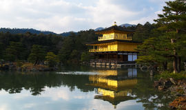 Gouden Paviljoen, bij Kinkakuji-Tempel, Kyoto Japan Stock Foto